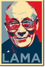 Dalai Lama impresión fotográfica 2 Poster De Regalo (Obama esperanza inspirado) Budismo Tibetano Monje
