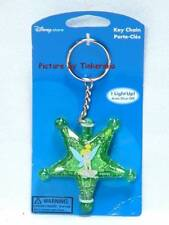 TINK TINKERBELL SITTING ON STAR FLASHING KEY RING CHAIN