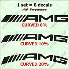 8 X AMG Mercedes Benz Brake Caliper Decal Sticker Emblem Logo Curved High Temp A