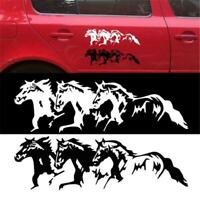 Creative Car Sticker Outer Decoration Black Accessory Running Horse Stickers LP