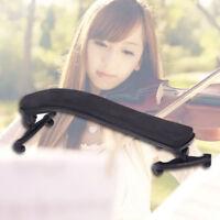UN3F Violin Shoulder Rest Fully Adjustable Black Support for Violin 3/4 4/4 1/2