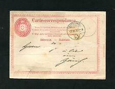 Schweiz GA Bütschwyl nach Zürich 1872    (EB-6)