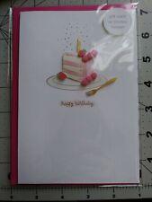 Happy Birthday Card with 3-D Strawberry Birthday Cake by Hallmark Signature