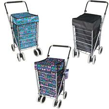 6 Wheels Foldable Shopping Trolley Cart Grocery Folding Market Laundry Bag