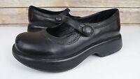 Dansko Womens EU 37 / US 6.5 - 7 Mary Jane Buckle Strap Shoes Black Leather