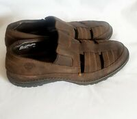 TIMBERLAND Smart Comfort Mens Brown Leather Loafer Driving Shoes US 10 M
