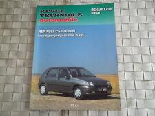 REVUE TECHNIQUE RENAULT CLIO DIESEL TOUS TYPES JUSQU'AU MODELE 1995