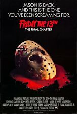 "FRIDAY THE 13TH 4 FINAL CHAPTER Repro US ONE Sheet poster 27x41"" rare slasher"