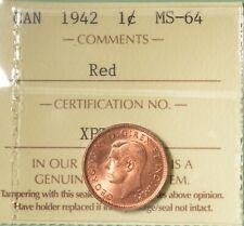 1942 Canada Penny  - Graded - ICCS MS-64 RED