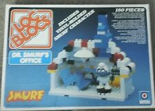 Loc Blocs Dr. Smurf's Office 1982 with Instructions Legos