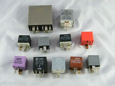 VW OEM 1999 PASSAT ~ LOT OF 11 ~ RELAYS / FUSES 192, 372, 204, 267, 173, 370, 79