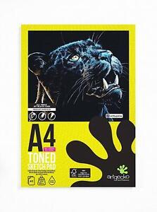 Artgecko PRO Toned Black Card Paper Sketch Pad A4