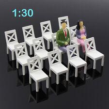 ZY16030 12pcs Model Train Railway Leisure Chair Settee Bench Scenery 1:30 Scale
