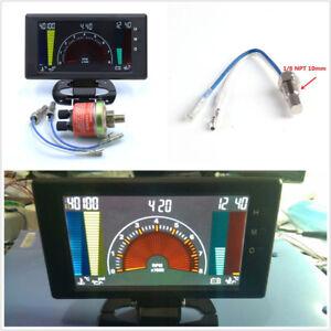 """5"""" 6in1 Multifunctional Car Tachometer Volt Clock RPM Water Temp Oil Press Meter"""