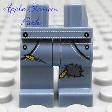NEW Lego Boy/Girl Minifig SAND BLUE LEGS w/Patch Pattern - Farmer Pants/Bibs