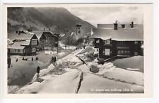 AK St. Anton am Arlberg, Straßenpartie im Winter, 1952 Foto-AK