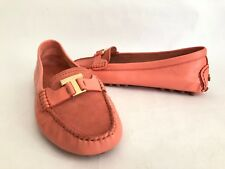 594baa2f3e0 Tory Burch Casey Driver Pink Nile Leather   Suede Driver Loafer Wms Sz 9.5M   275