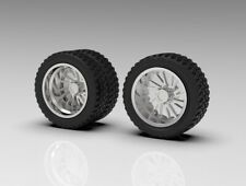 """1:64 """"Brute"""" Dually Truck Wheel And """"Standard"""" Tire Setup-3D Printed"""