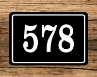 "Personalized Home Address Sign Aluminum 6"" x 10"" Custom House Number Plaque sq10"