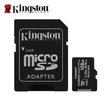 Kingston 128GB microSDXC C10 UHS-I A1 Memory TF Card 100MBs +  Free Adapter