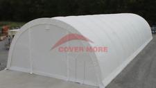 40x80x20r 15oz Pvc Canvas Fabric Storage Building Replacement Cover