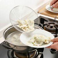 Stainless Steel Mesh Net Strainer Stainless Wire Skimmer Spoon for Cooking Tools