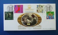 BENHAM OFFICIAL MILLENNIUM FDC : 1999 CITIZENS TALE : RIGHT TO LEARN, LANARK SHS