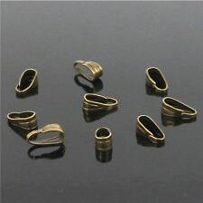 Clips&Pendant Clasps Pinch Clip Bail Pendant Connectors Jewelry DIY 200Pcs