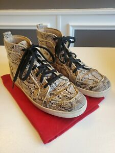 Mens Christian Louboutin Python High Top Sneakers Size 44
