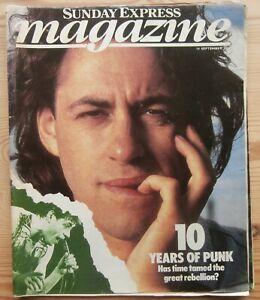 SUNDAY EXPRESS MAGAZINE 14 SEP 1986 10 YEARS OF PUNK BOB GELDOF MCLAREN WESTWOOD