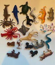 Plastic Animal Toy/Figure Lot (21 Pieces)