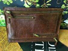 RARE Vintage GUCCI Document Currency Holder Coin Bills Travel Leather Accessory