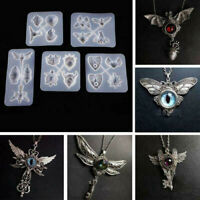 Devil Eye Owl Silicone Resin Casting Molds Mould Jewelry Pendant DIY Crafts