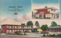 Postcard Columbus Motel Columbus Mississippi MS