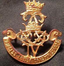 4th PRINCESS LOUISE DRAGOON GUARDS TALL IV WWII cap badge Canada WW2 Canadian