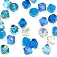 SCB5504 Glacier Blue Mix 6mm Bicone Swarovski Crystal Bead Assortment 24pc