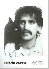Frank Zappa: Autographed 7 in. x 5 in. B&W Picture
