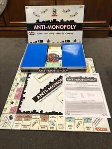 Rare Vintage 2005 University Games Anti Monopoly Board Game Christmas VGC