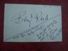 Beryl Reid   Autograph 4.5 x 7 inch