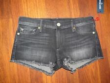 NWT TRUE RELIGION JOEY Authentic BLACK Cut-off w/flaps SHORTS...size 31