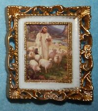 "Jesus the Good Shepherd Picture in Frame - 2 5/8"" x 2 1/4"" - New"