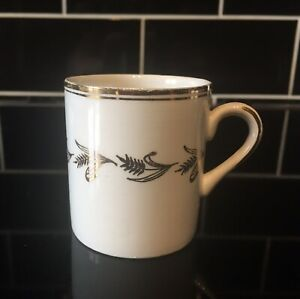 Chinastyle Simpson's (Potters) White & Gold Wheatsheaf China Espresso Coffee Cup