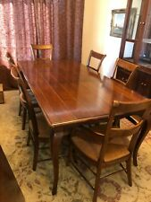 Cherry Plank Dining Room Set w/leaf and 6 chairs - Goes with many decors - Nice