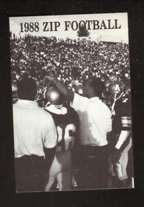 Akron Zips--1988 Football Pocket Schedule--WAKR