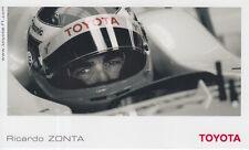Ricardo Zonta Toyota Formula 1 Promo Card F1.