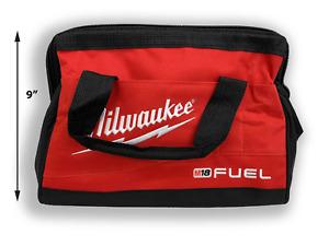 "New Canvas Tool Bag Milwaukee 13"" x 10"" x 9"" tools gym golf hobby emergency bag"