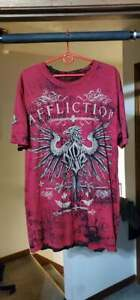 Affliction Georges St-Pierre Reversible Distressed UFC 129 Tee