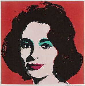 Andy Warhol Liz Giclee Canvas Print Paintings Poster Reproduction Copy