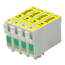 4 Yellow Ink Cartridges for Epson Stylus Photo R220 R320 R350 RX500 RX640