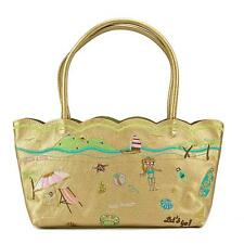 Buco Trolley Beach Bag Women Gold Tote